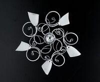 Lampada soffitto plafoniera moderno cromo strass cristalli prodotto italiano