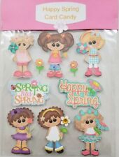 Die Cut Happy Spring Scrapbook Embellishment Page Paper Piecing By Crafde