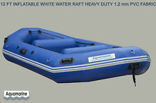 12' INFLATABLE WHITEWATER RIVER RAFT BOAT self bailing WHITEWATER 1.2 MM PVC HD