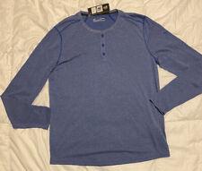 Under Armour XL Men's Threadborne Fitted Knit Henley Shirt Blue  1298403-400 NWT