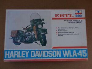 ERTL ESCI WWII HARLEY DAVIDSON WLA-45 MOTORCYCLE MODEL KIT 1/9 SCALE