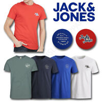 Mens T Shirts JACK AND JONES Top Short Sleeve Tee Crew M L XL XXL Medium Large