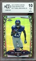 2014 Topps Chrome Camo Refractor #117 Odell Beckham Rookie Card BGS BCCG 10 Mint