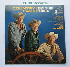 SONS OF THE PIONEERS - Country Fare - Ex Con LP Record RCA Victor LPM 2855