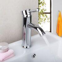 Bathroom Chrome Sink Basin Faucet Deck Mounted Mixer Tap Single Handle Toilet