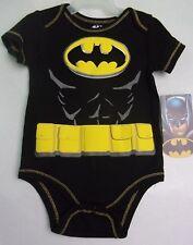 NWT DC Comics Batman Suit 1 One Piece Black Yellow Logo 3-6 mo Boys Girls Baby