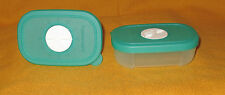 "TUPPERWARE MIN FREEZER MATES SET OF (2) 4 OZ 110ML BLUE W/DATE DIAL ""BRAND NEW"""