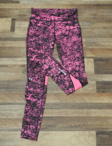 Under Armour S Womens Compression HeatGear Pink Ankle full length leggings