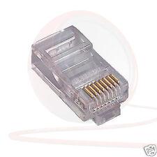 (CONF. da 10) CAT5e RJ45 8 Pin Spina Ethernet, Internet, Connettore di rete. Dante