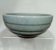 ANTIQUE BLUE LUSTRE POTTERY MIXING BOWL. RUSKIN ? MCCOY POTTERY ?