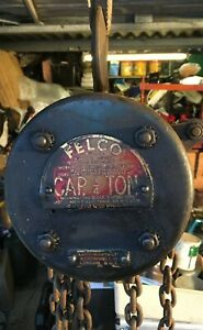 Vintage 1/4 Ton Felco Chain Hoist, 2 metre Fall Working Condition -Herefordshire