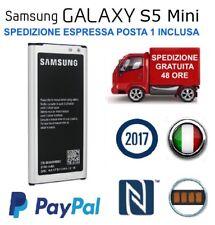 BATTERIA originale SAMSUNG Galaxy S5 Mini | EB-BG800BBE 2100 mAh NFC NUOVA