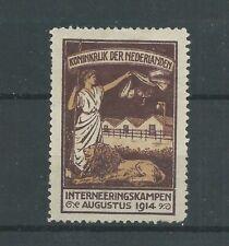 Nederland IN2  Interneringszegel  MH/ongebr CV 125  € zonder gom