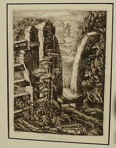 Robin Tanner The Meadow Stile Etching Signed in pencil in the margin 15 x 20cm