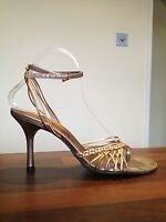 RIVER ISLAND Strappy Shoes High Heels Peep Toe Sandals Size 6  BRAND NEW