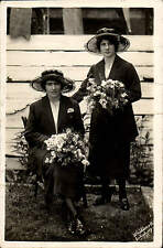 Salisbury photo. Two Ladies & Bouquets by Whitworth, Salisbury.