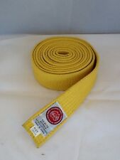 Yellow Martial Arts Belt, Taekwondo In Excellent Condition 280 Cm. AustraliaPost
