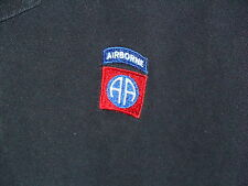 US MILITARY ARMY AIRBORNE DIVISION POLO SHIRT AA EXTRA LARGE X-LARGE BLACK