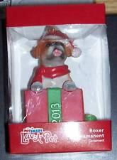 Top Paw Boxer Dog CHRISTMAS Ornament 2013