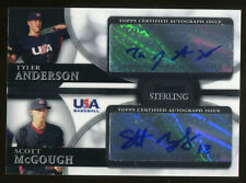 Tyler Anderson Scott McGough 2010 Bowman Sterling USA Dual Auto 9590