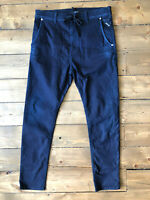 Men's Replay Jeans Jogging Jog Hyperfree Stretch Tapered Blue Indigo W31 L30