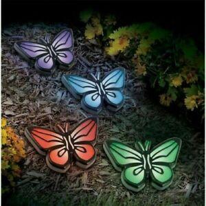 Pack of x 8 Butterfly Solar Lights Patio Garden UK Pathway Solar Powered Outdoor