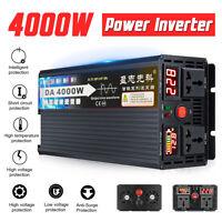 4000W Max Pure Sine Wave Power Inverter 12V /24V/48V/60V - 240V Camping Caravan