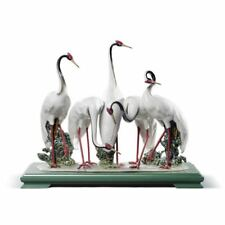 Lladro Flock of Cranes Sculpture. Limited Edition 01008697
