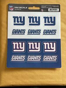 NFL New York Giants Decal Set Mini 12 Pack - Sticker Sheet