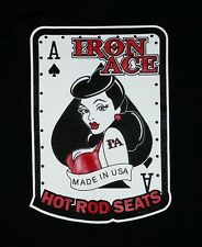 NWOT Iron Ace Hotrod Seats Pin Up Girl Bombshell T-Shirt Size Adult Small Black