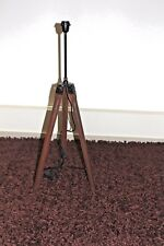 Handcrafted Extendable Tripod Floor Lamp H127cm Rosewood/Brass Chrome Head NEW