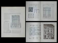 PARIS, 127 RUE LAMARCK, 4 RUE COYSEVOX - PLANCHES ARCHITECTURE 1905 - VERDONNET