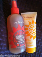 ELIZABETH ARDEN LOVELY EUPHORICS  SUNFLOWERS PERFUMED body SPRAY + & LOTION new