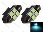 2 x Festoon Bulb 269 30,31mm 4 SMD LED 5050 C5W Ice Blue Interior Light Car 12v