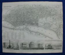 More details for calcutta city plan, kolkata, india, original antique map, sduk, 1844