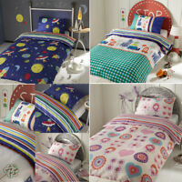 New Kids Boys Girls SINGLE Bed Fancy Character Duvet Quilt Cover Bedding Sets