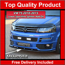 VW TRANSPORTER T5 LOWER SPORTLINE FRONT SPLITTER SPOILER BUMPER LIP T5.1  ADD ON