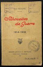 SAULIOL: Silhouettes de Guerre / Guerre 14-18 / 1923