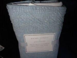 Pottery Barn Kids Rachel Ashwell truly blue crochet crib  bedskirt bed skirt New