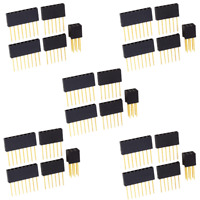5 Sets of Arduino Stackable Female Shield Headers; Tall Breadboard Stacking USA