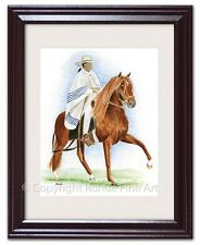 Peruvian Horse paso Framed Art painting - traditional tack - signed Rohde