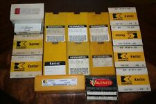 Kennametal Cnc Metalworking Carbide Inserts Lot New Old Stock Tooling