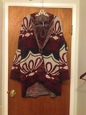 Free People Winter's Day Patterned Sweater Cardigan ☮ Large