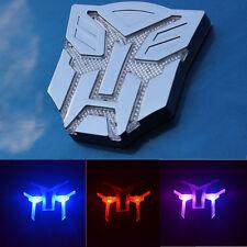 Car Solar Transformers Decoration Sticker Auto Styling Warning Light Lamp Decals
