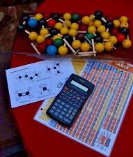 Organic Chemistry Scientific Atom Molecular Model Teach Class Kit + Calculator