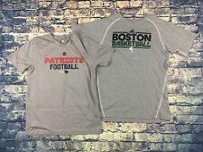 Adidas Boston Celtics New England Patriots Training Shirts Set of 2 Youth Large