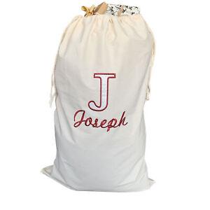 Deluxe Jajo personalised embroidered Christmas gift sack, reusable Santa Sack