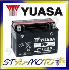 YTX9-BS BATTERIA ORIGINALE YUASA CON ACIDO TRIUMPH R 675 STREET TRIPLE 2009