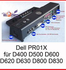 DOCKING STATION PORT REPLICATOR DELL LATUTUDE  D600 D610 D620 D630 D800 D810 PR1