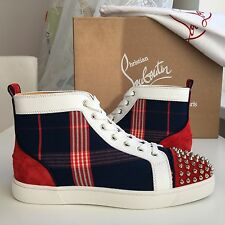 NEW CHRISTIAN LOUBOUTIN Lou Spikes Flat Suede Textile Louis Orlato Sneakers 42,5
